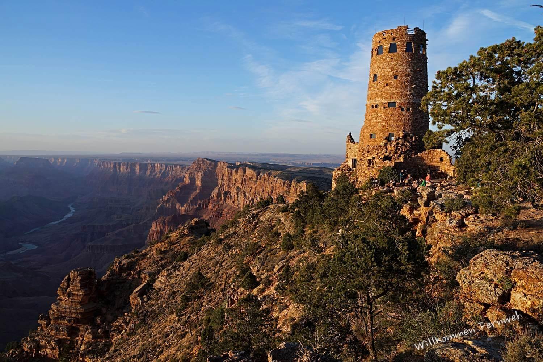 Sonnenuntergang am Desert View Watchtower