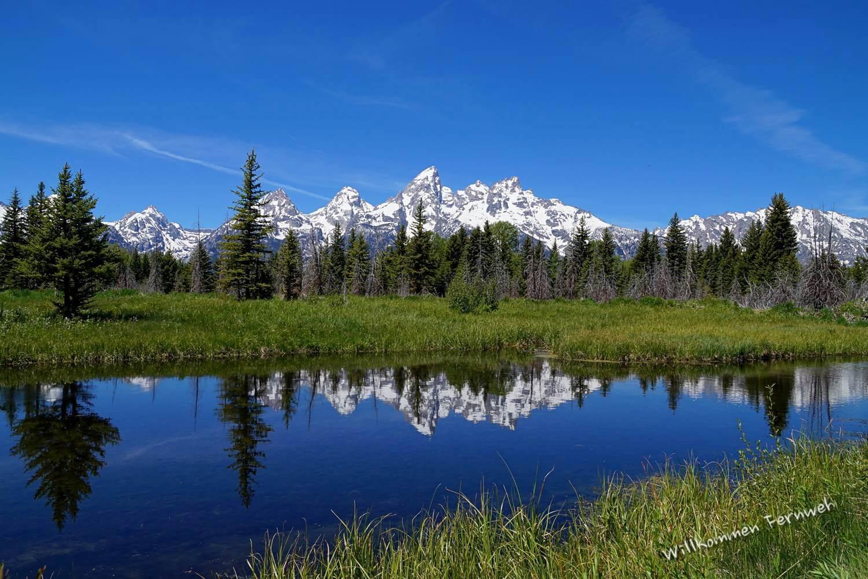 Spiegelung der Teton Range, Grand Teton National Park