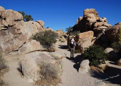 Kerstin und Lundi unterwegs im Hidden Valley