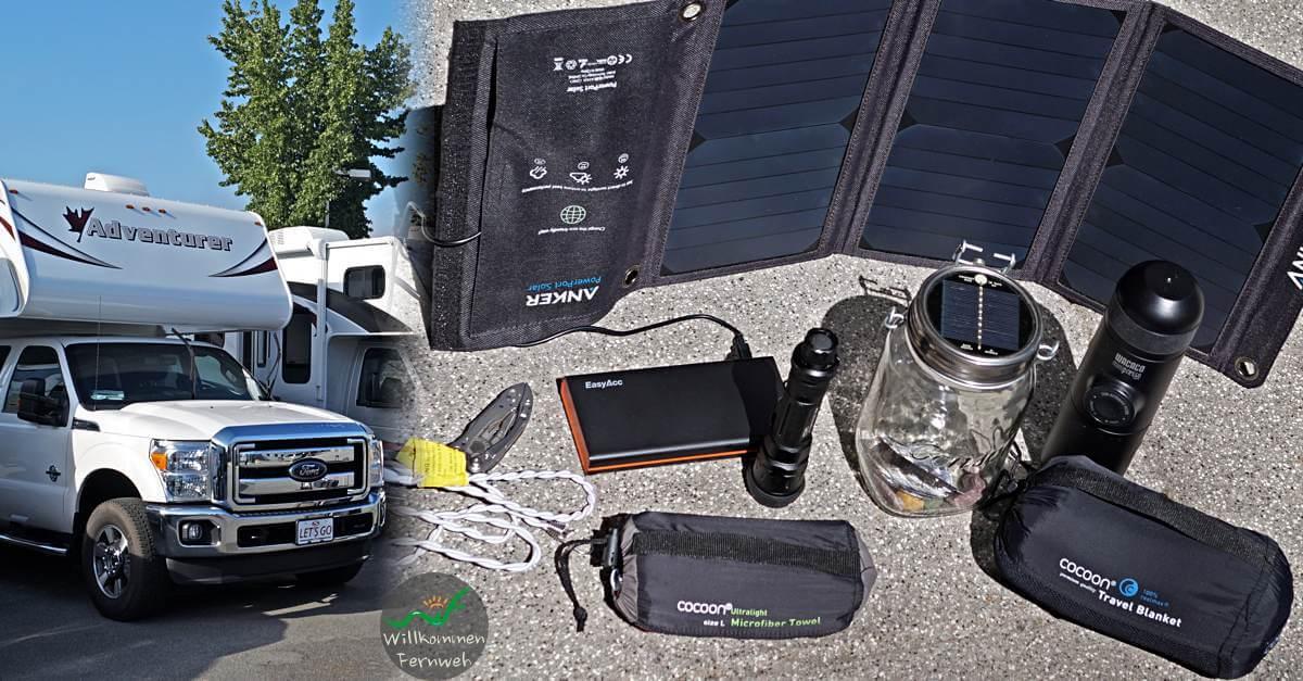 Camping Roadtrip Packliste und Einkaufsliste