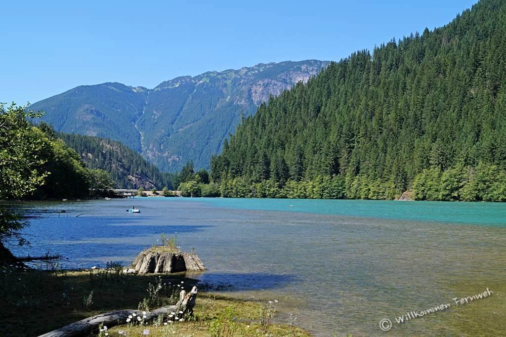 Zugang zum Diablo Lake vom Colonial Creek Campground