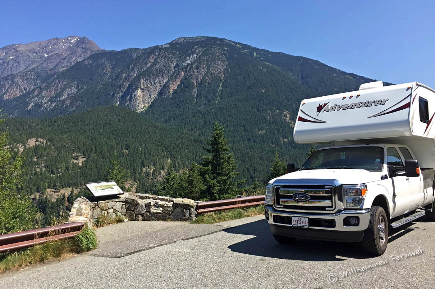 Mit dem Truck Camper im North Cascades Nationalpark