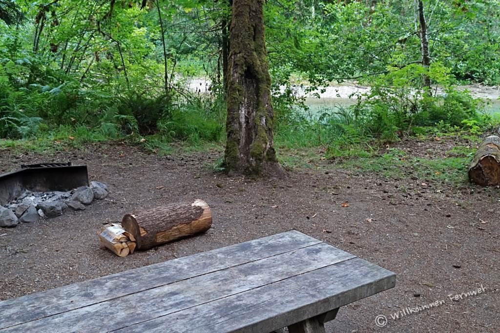 Unsere Site direkt am Fluss, Marble Creek Campground