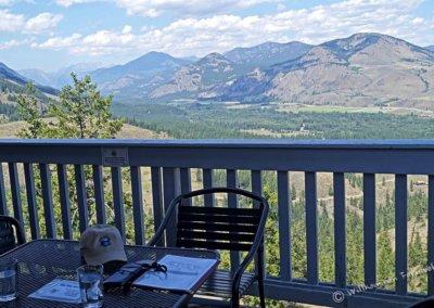 Blick von der Terrasse der Sun Mountain Lodge