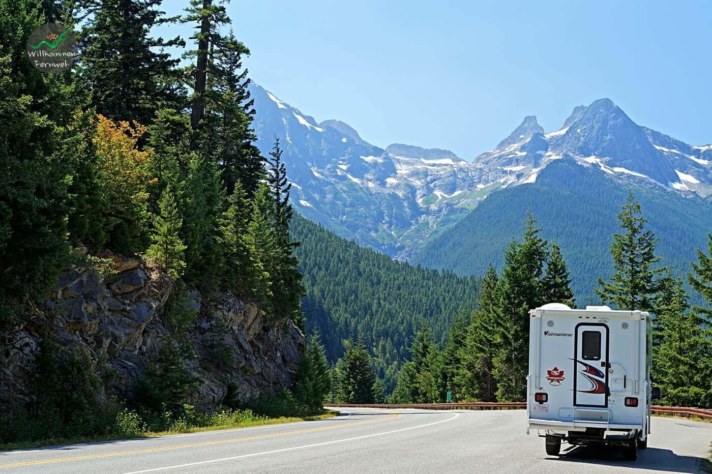 Aussicht mit Truck Camper im North Cascades Nationalpark