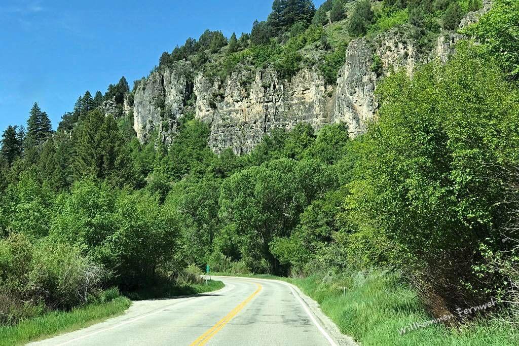 Schöne Strecke durch den Logan Canyon, auf dem Weg vom Grand Teton nach Salt Lake City