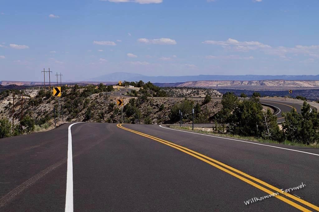 Wunderbare Streckenführung des Scenic Byway 12 durch Utah
