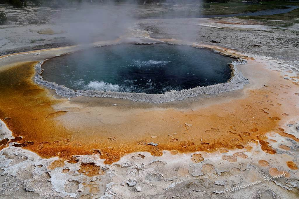 Der Crested Pool im Upper Geyser Basin, Yellowstone National Park