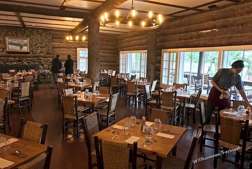 Im Dining Room der Roosevelt Lodge, Yellowstone National Park