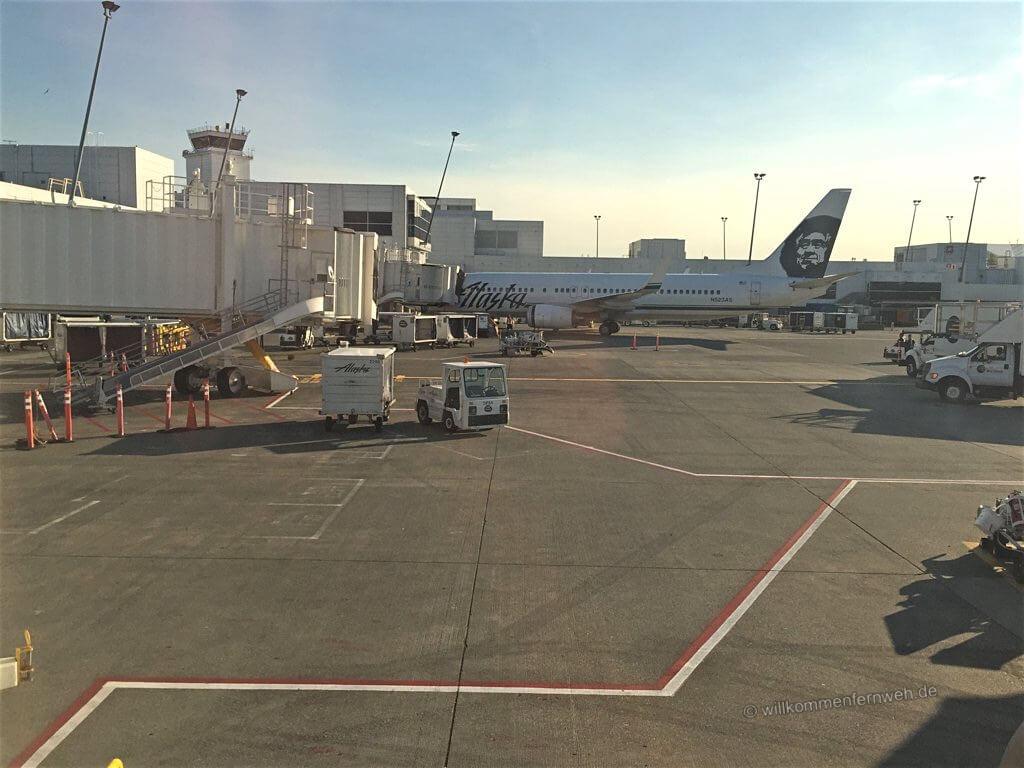 Layover, am Flughafen