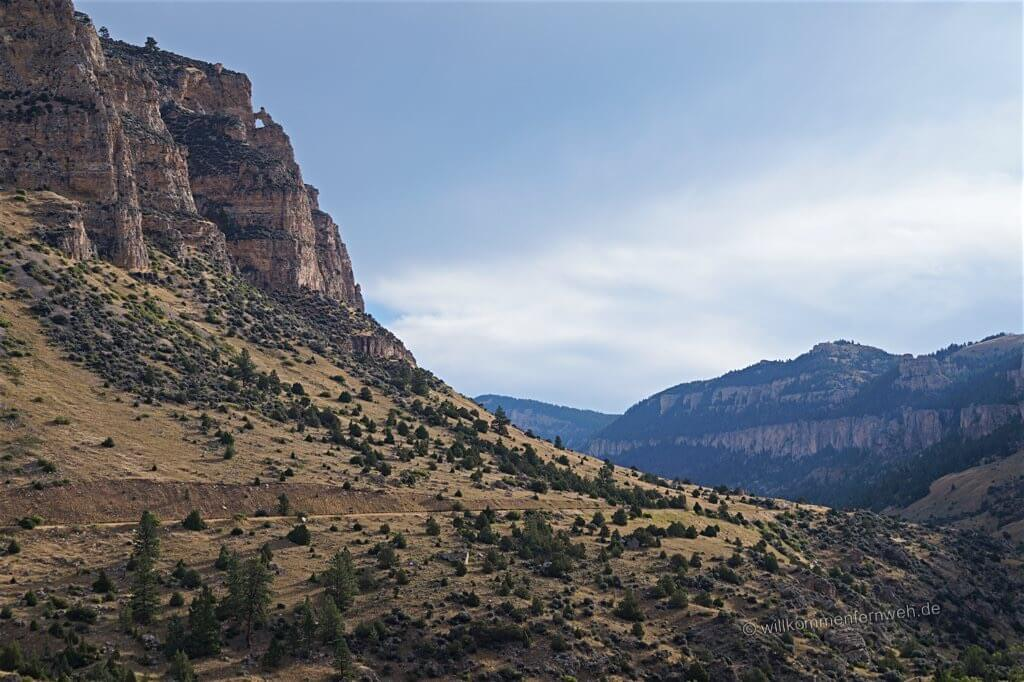 Canyon in den Bighorn Mountains, Wyoming