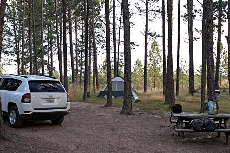 Big Pine Campground in den Black Hills