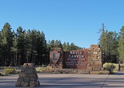 Bryce Canyon Einfahrt