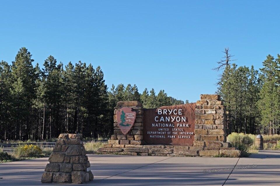Einfahrt, Bryce Canyon National Park