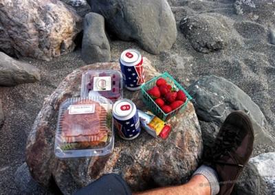 Abendessen direkt am Strand – Limekiln SP