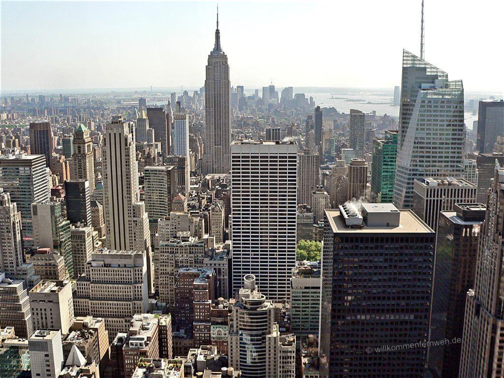 Blick vom Rockefeller Center über Manhattan