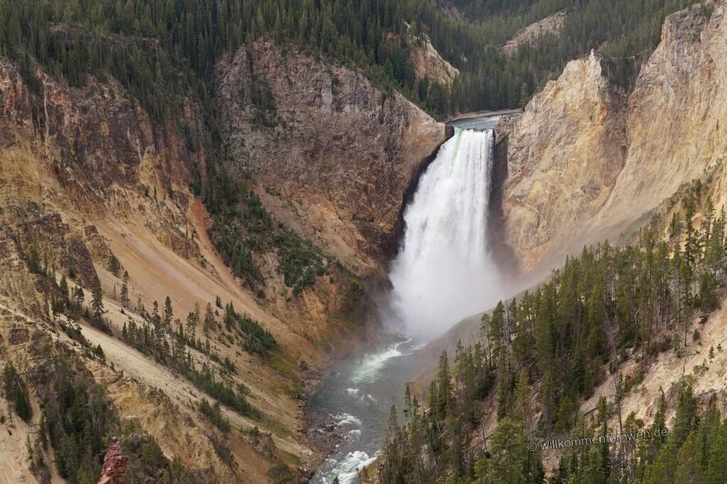 Blick vom Lookout Point, Grand Canyon of Yellowstone