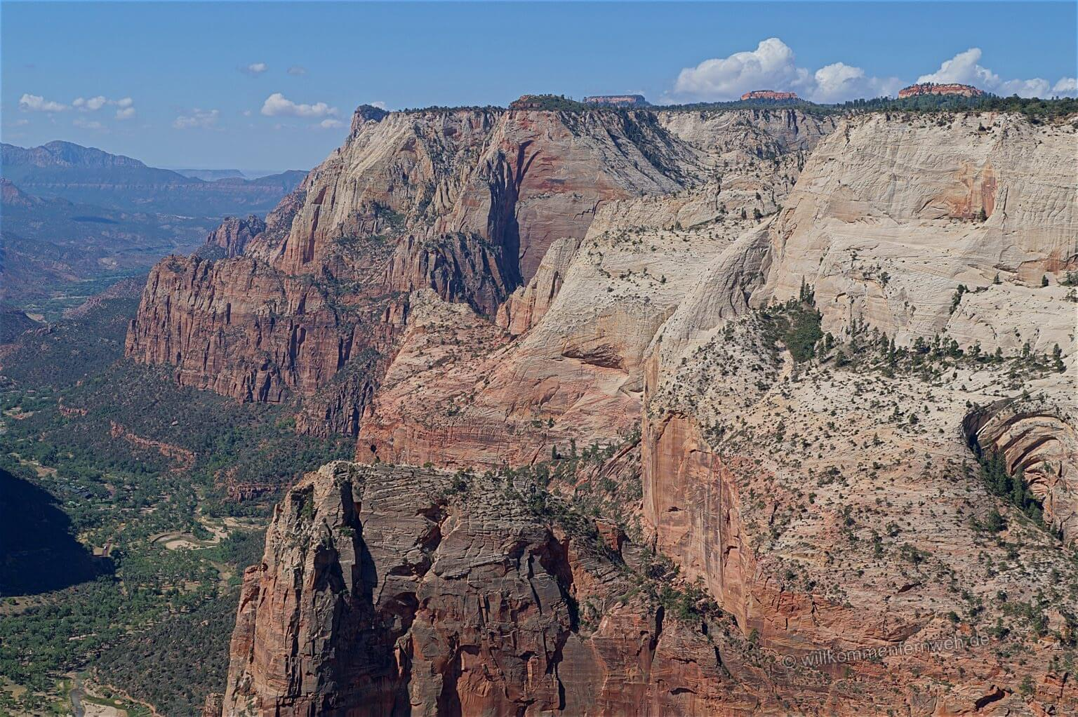 Blick vom Observation Point in den Zion Canyon